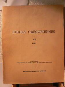 livre-1967-etudes-gregoriennes-st-pierre-de-solesmes