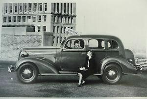 12 by 18 black white picture 1936 chevrolet 4 door for 1936 chevy sedan 4 door