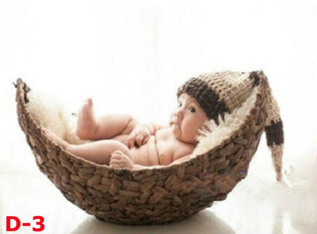 New Creative Photography Prop Handmade Woven Basket for Newborn Baby D-3