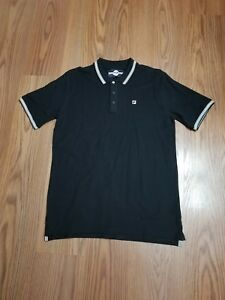 0c1fd774 Details about NWT Mens Fila Matcho 3 ss black polo shirt size XL