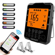 Bluetooth Meat Food BBQ Thermometer With 6 Probes For Grill Oven Food Cooking UK