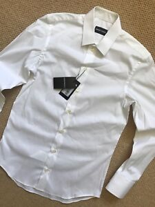 EMPORIO-ARMANI-WHITE-PLAIN-LONG-SLEEVE-SHIRT-TOP-P1C35T-S-M-L-NEW-amp-TAGS