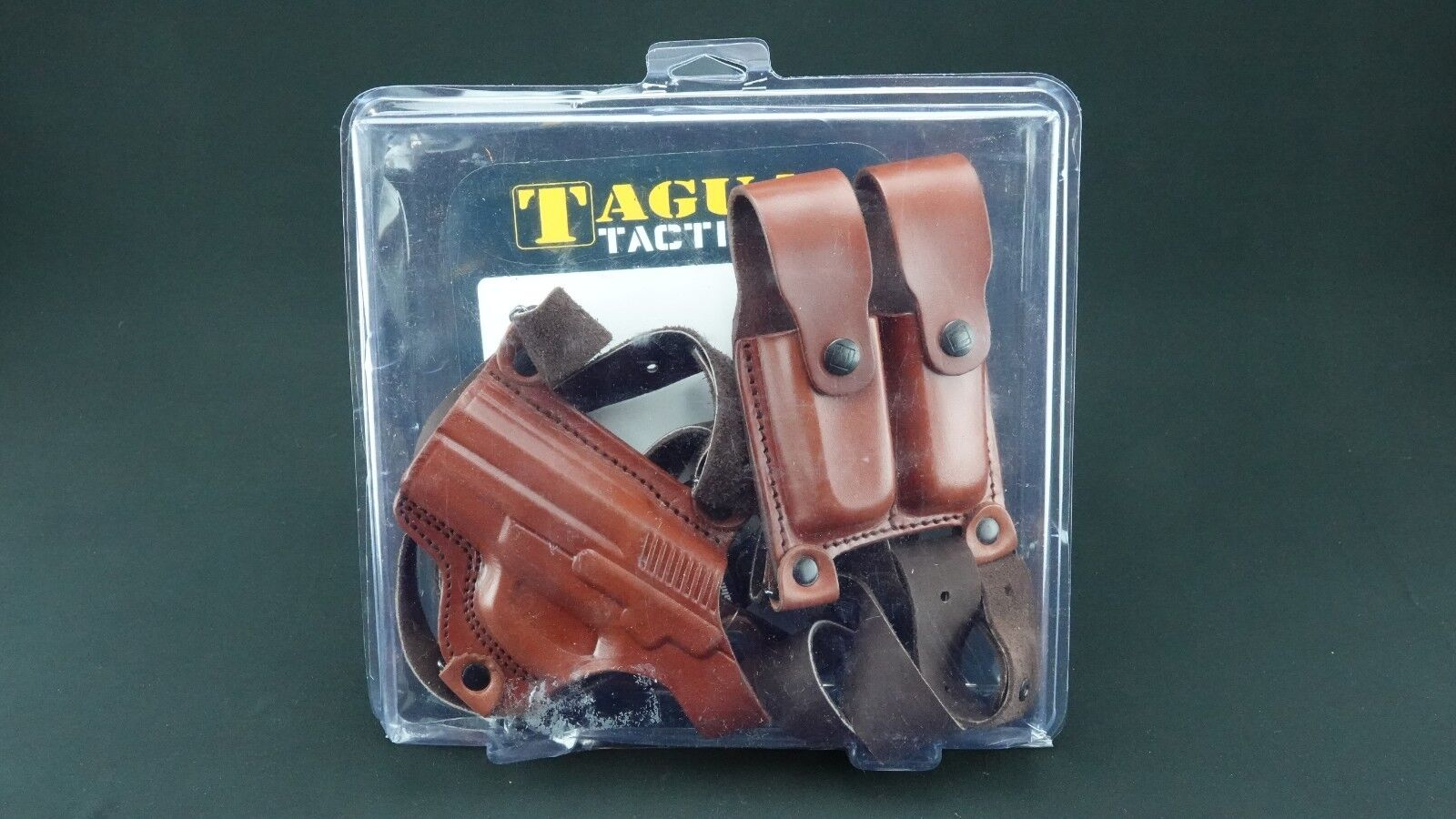 Tagua SH4-473 Funda de hombro (marrón), doble Mag portador, LH, Sig Sauer SP2022