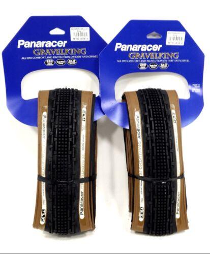 2-PACK Panaracer GravelKing SK Tire 700x35mm Brown Sidewall PAIR
