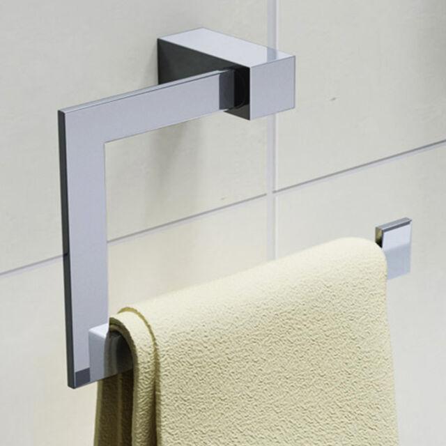 Design Handtuchhalter Handtuchstange Handtuch Wandmontage Bad Chrom MMA705