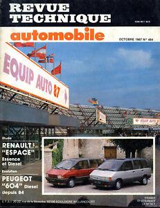Rta Revue Technique Automobiles N° 484 Renault Espace 1 Essence Diesel