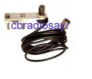 Flat-Bar-Mirror-Mount-Kit-with-Cable-for-3-8-CB-Radio-Antenna-Aerials