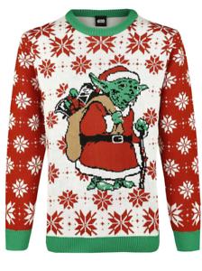 Geek Christmas Jumper.Details About Star Wars Jedi Yoda Dressed As Santa Geek Ugly Christmas Jumper Sweater Size M