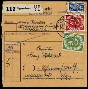 Bund BRD Posthorn MiNr 130 + 138 sur Paquet Carte MIF-afficher le titre d`origine DmklMgWG-07165157-778491738