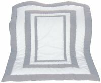 Baby Doll Modern Hotel Style Crib Comforter, Grey , New, Free Shipping