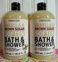 Two Creightons Vanilla & Brown Sugar Soften Bath & Shower Body Wash 16.9 Oz