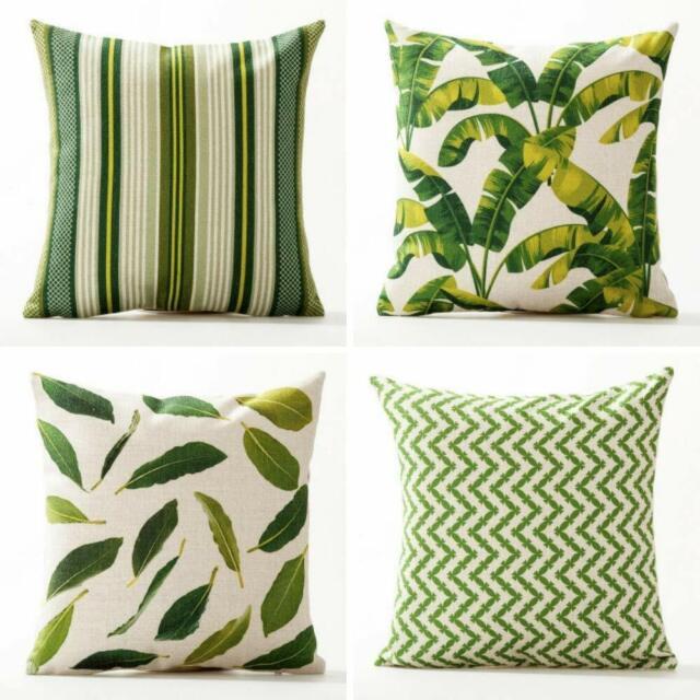 Leaf Pattern Decorative Throw Pillow