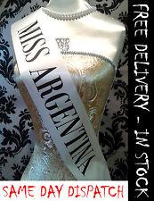 BEETLEJUICE ispirato DONNA MISS ARGENTINA Sash HALLOWEEN FANCY DRESS