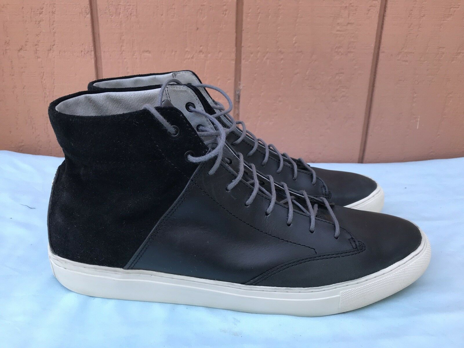 EUC TCG 46 Men's US 13 Premium shoes Porter All Leather High Top Laces Sneaker AY