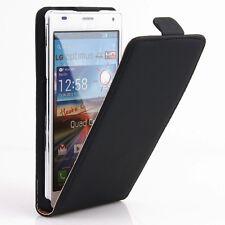 LG Optimus 4X HD P880 Flip Case Tasche Hülle Cover Etui Schale Schutz schwarz A9
