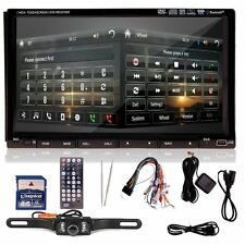 "Free Camara +Sony Lens 7"" HD Double 2DIN Car GPS Stereo DVD CD Player Bluetooth"