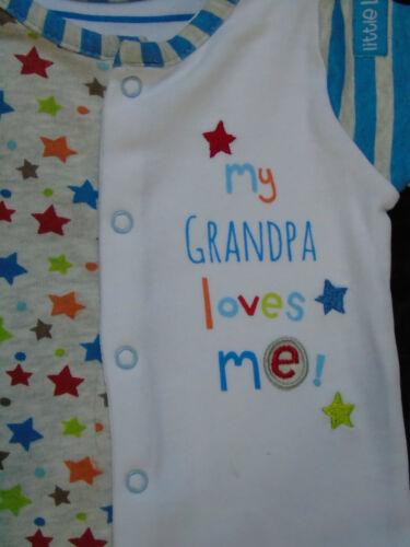 2er Set Pyjama Schlafanzug kurz Spieler my grandma grandpa loves me 50 56 62 68