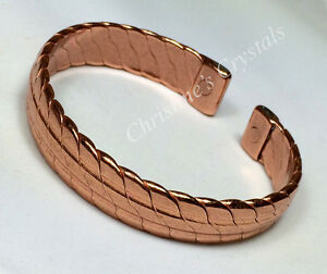 Image Is Loading Magnetic Solid Copper Heavy Bracelet Healing Arthritis