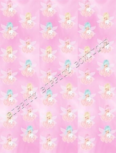 """GORGEOUS /""""COTTON CANDY TOOTH FAIRY/"""" CANVAS PRINTED FABRIC SHEET..HAIR BOWS,."""