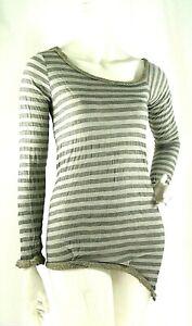 Miniabito Top Lungo Donna AMAMI Vestito in Maglia D083 Grigio/Beige Tg S M M/L L