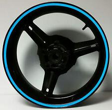 BLUE REFLECTIVE WHEEL STRIPES RIM STICKERS TAPE DECALS SUZUKI SV650 SV1000 S R