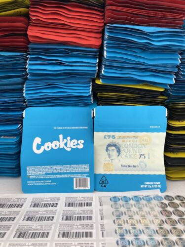 CHEAPEST 10 Pack Official Cookie Empty bags 3.5g Runtz SF FREE SHIPPING GAS