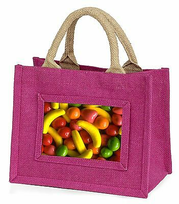 Fruit Sweets Little Girls Small Pink Shopping Bag Christmas Gift, F-f1bmp