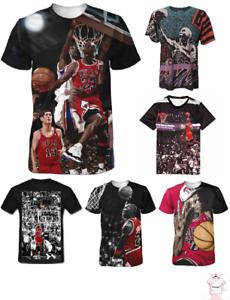 f688f4a5ccc9bc New NBA Michael Jordan King Basketball Star T-shirt Men Women 3D ...