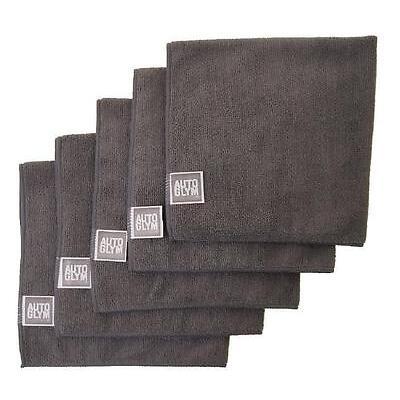 AUTOGLYM High Quality Grey Microfibre Car Polishing Cloth x 5 Free P & P