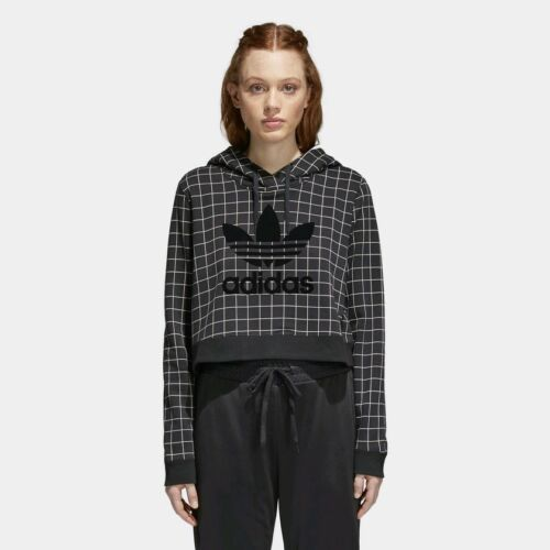 Hoodie Uk 18 W New Black Originals Grid Crop Pattern 16 772 Adidas 0YnBzTq0