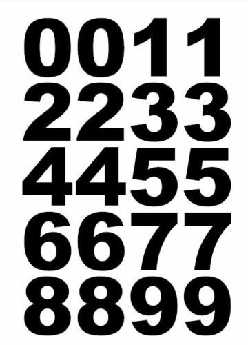 Reflective 2 inch to 4 inch Vinyl Custom Number Decal Sheet House Boat Mailbox