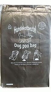 Gassibeutel-Hundekotbeutel-Hundebeutel-1000-Stueck-Schwarz-Top-Qualitaet-PM