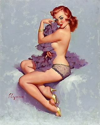 Pin-Up Girl Gil Elvgren Print  8 in x 10 in  Unmatted, Unframed
