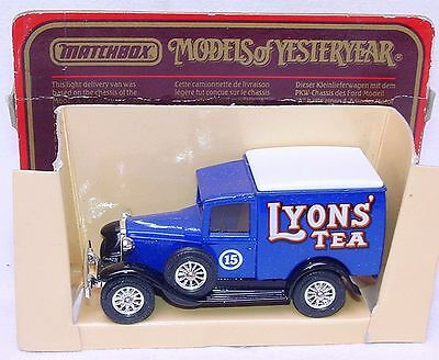 Matchbox MODELS OF YESTERYEAR 1:40 FORD MODEL A LIONS TEA Oldtimer Car MIB`86!