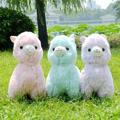 "/""Fresh/"" Alpacasso Purple Alpaca 45cm Plush Amuse Arpakasso Fluffy Toy Gift"