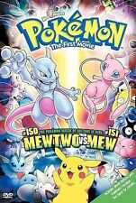 *Pokemon the First Movie Mewtwo vs Mew (DVD, 2000) OOP RARE