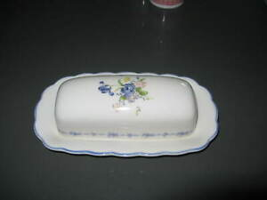 Nikko-BLUE-PEONY-Pattern-Covered-Butter-Dish