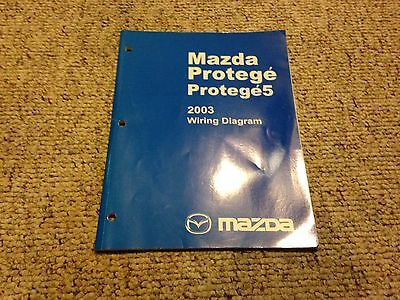 2003 mazda protege 5 protege5 electrical wiring diagram manual dx lx es  20l  ebay