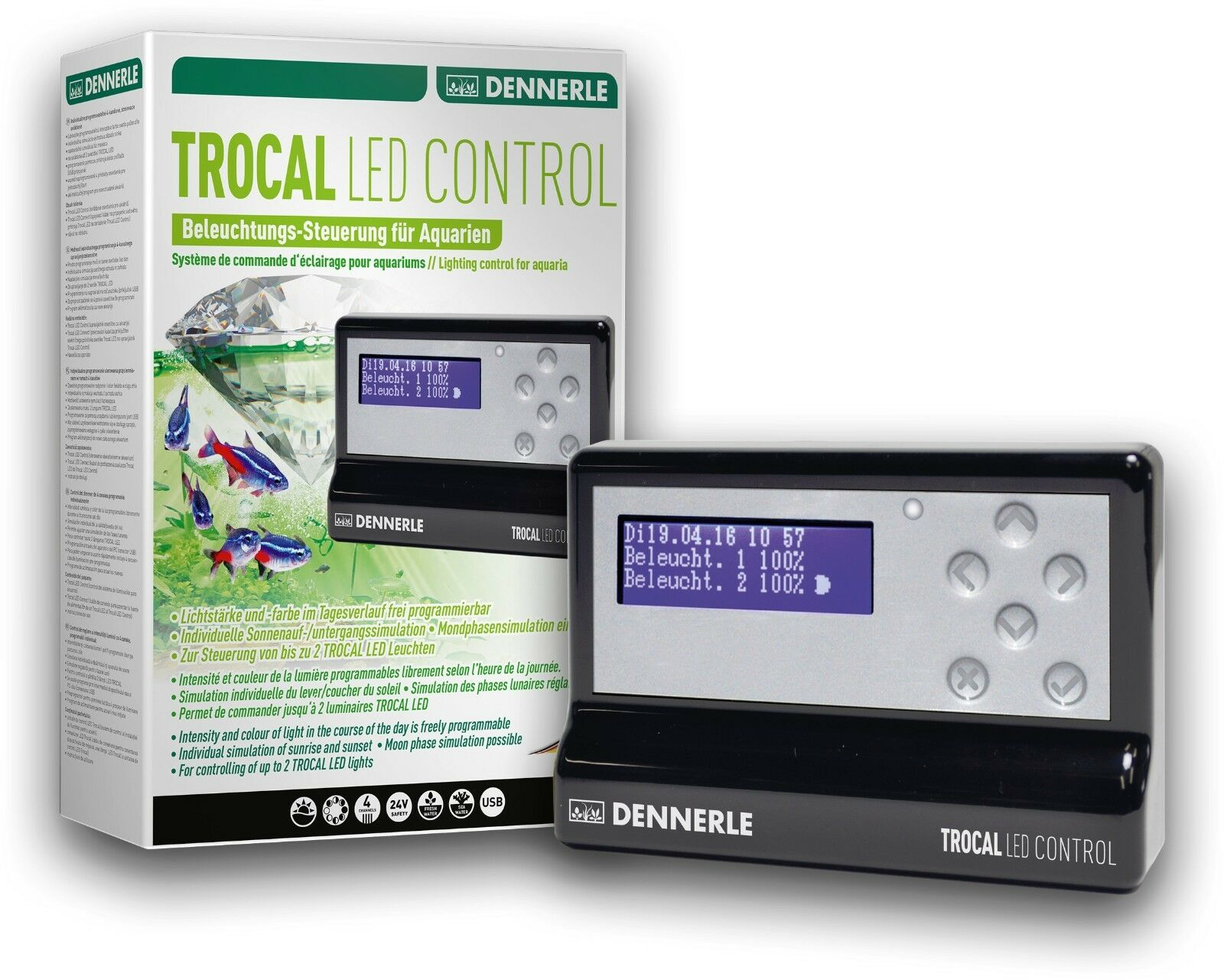 Dennerle Trocal LED Control - 4 Channel Controller for Dennerle Aquarium LEDs