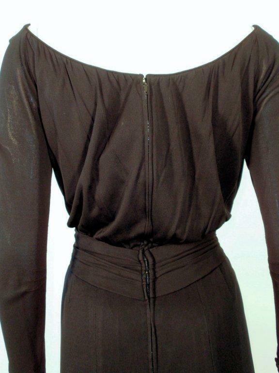 CEIL CHAPMAN Vintage Black Long Sleeve Jersey Coc… - image 6