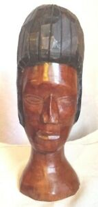 African-Tribal-Art-Hand-Carved-Statue-11-034-2-Sided-Head-Man-and-Woman-Bust
