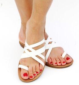 Womens Wide Sandals Flip Flop Strappy