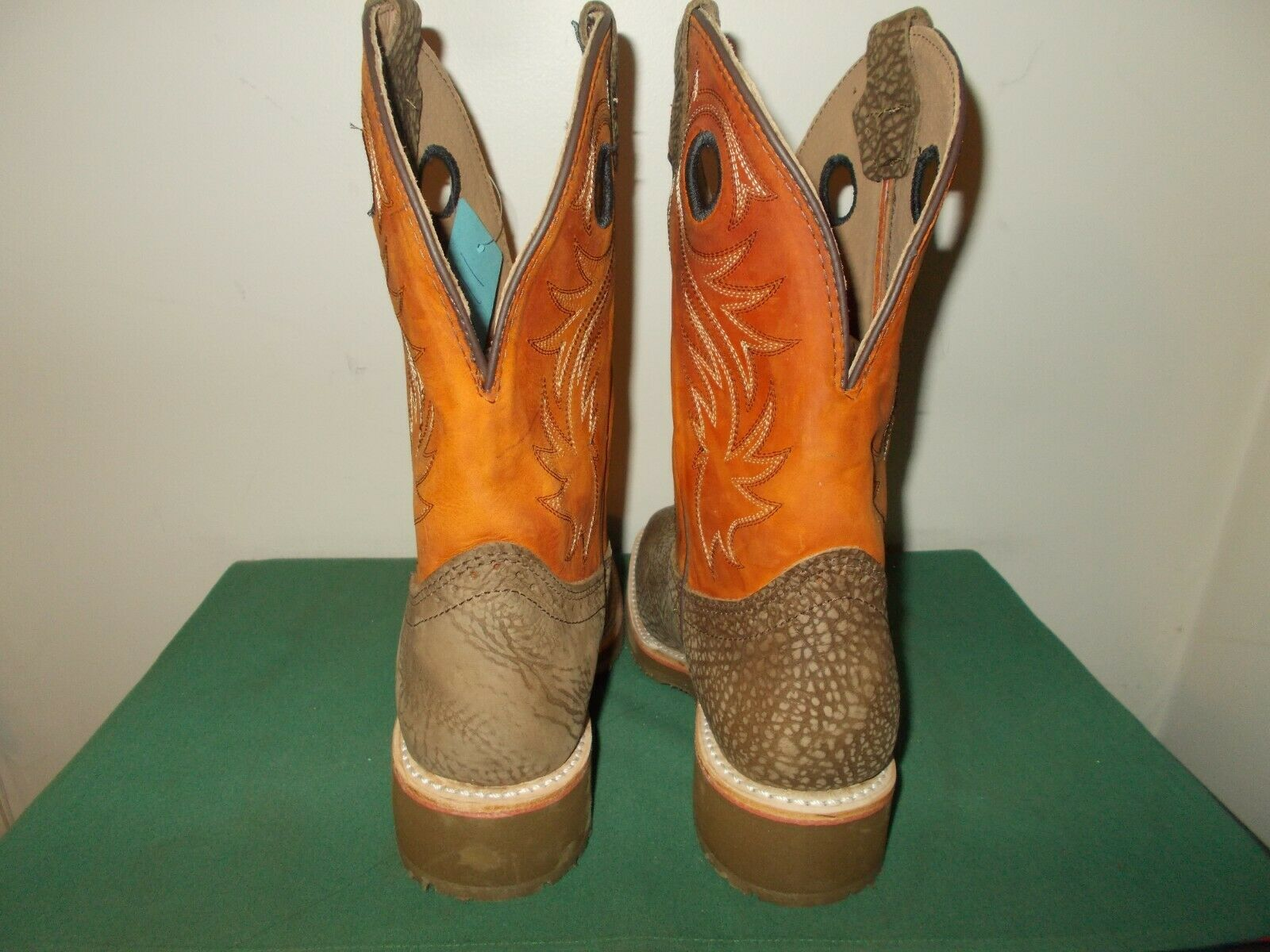 Mens 11 D Square Toe Work Western Roper Cowboy Boots Luis USA Made Leather NEW
