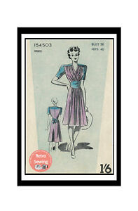 1940-039-s-WW2-Tea-Dress-Vintage-Sewing-Pattern