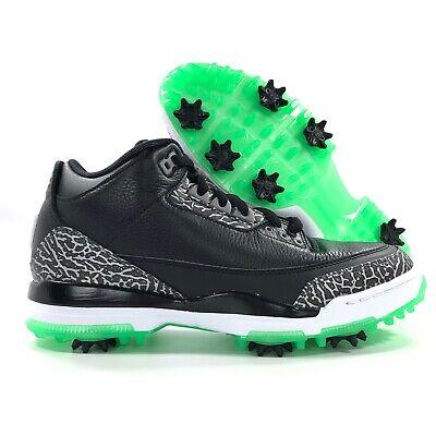 timeless design 5b284 c234d Nike Air Jordan 3 Golf Black Cement Green Glow Grey White AJ3783-001 Men's  9.5 | eBay