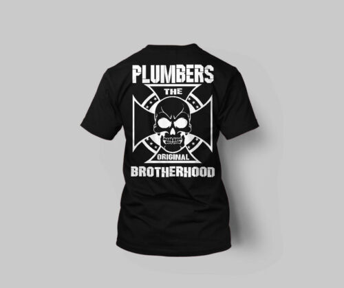 Union Plumbers T shirt Union shirt Skull Union Supporter Plumber Shirt CROSS