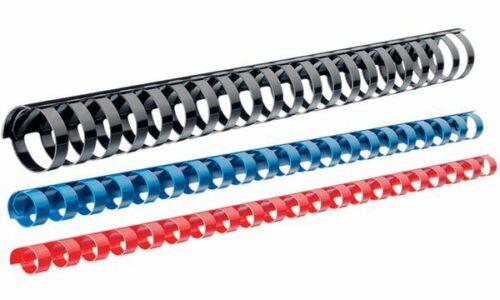 21 Ringe LEITZ Plastikbinderücken DIN A4 19 mm schwarz