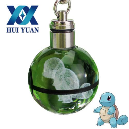 3D Lamp Pokemon Pokeball Crystal Ball LED Night Light 3cm Key Rings Kid Gifts