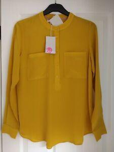Womens Blouse  Blouse Vintage  Yellow Blouse Blouse Mustard  Women Buttoned Blouse  Size EUR40  UK12