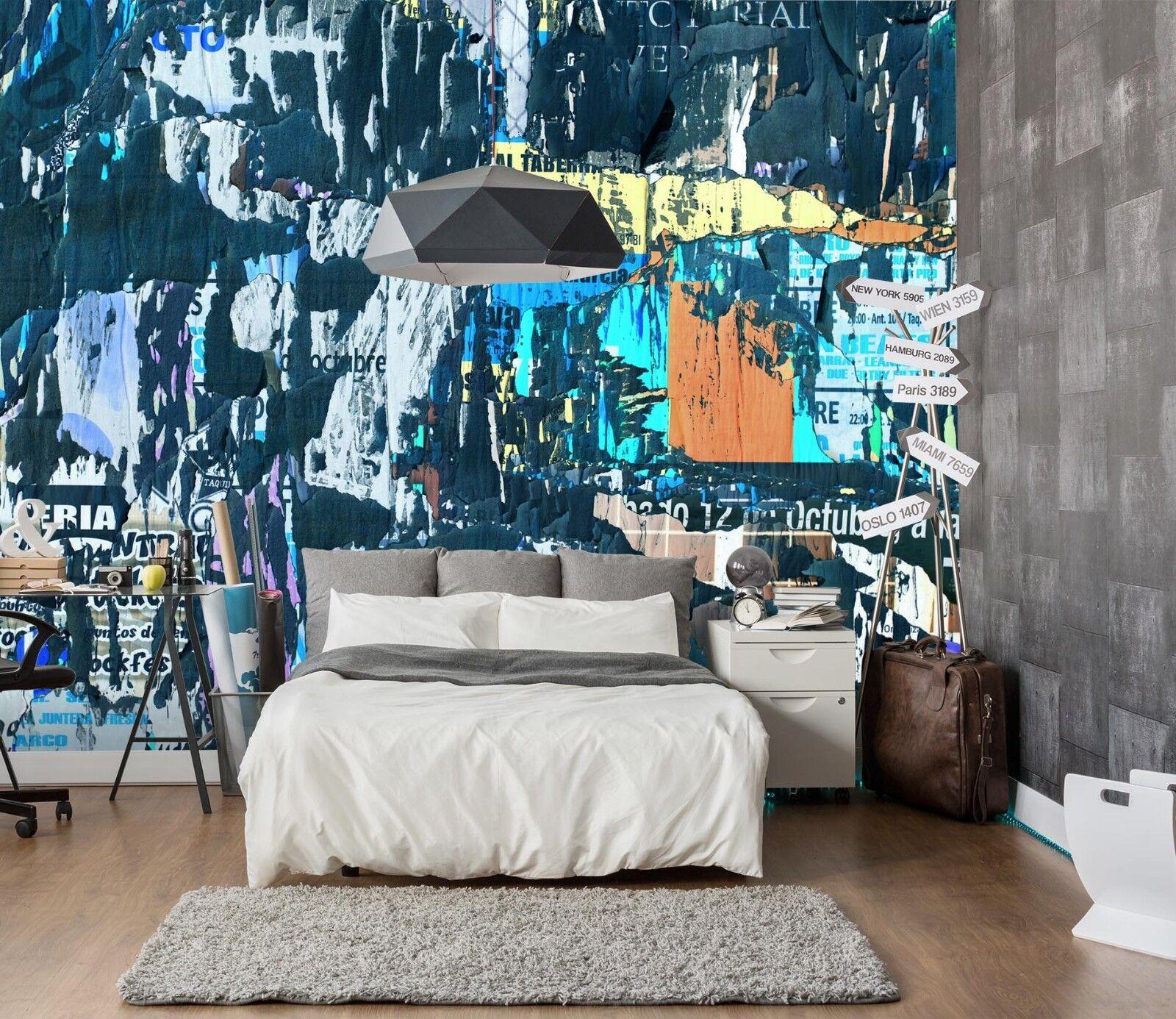 3D bluee Graffiti 956 Wallpaper Mural Paper Wall Print Indoor Murals CA Summer